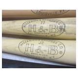 Baseball bats: H&B, Louisville with...
