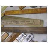 Advertising rulers: folding wood, m...