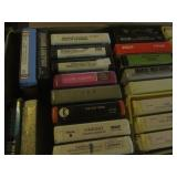 Vintage tapes: 8-track, qty 80+...