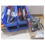 Parts bins, hooks, strap, pop rivet...