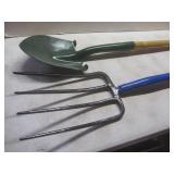 Garden fork, shovel...