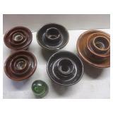 Insulators, ceramic & glass with gr...