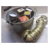 Kettle, rings for wide mouth jars, ...