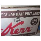 Canning jars: 8 pints, 24 1/2 pints...