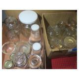 Canning jars: blue quarts,, pints w...