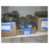 Canning jars: six Atlas 20 oz, four...