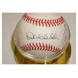 Sid Hartman and Dan Gladden Signed Baseball