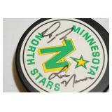 Minnesota North Stars Signed Puck - Lou Nanne