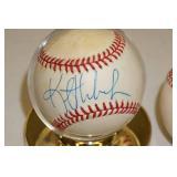 3 Signed Baseballs - Hrbek, Dave Hollins