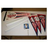 Minnesota Twins Collectibles - Pennants, Posters