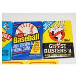 Unopened Collector Cards - Baseball, Nintendo, Ghostbusters