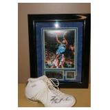 Troy Hudson Signed Picture and Shoe