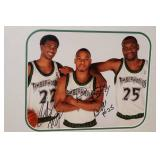 Timberwolves Signed Picture - Brewer, Jefferson, Foye