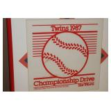 Framed and Matted 1987 Twins Homer Hanky