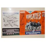 Framed and Matted 1987 Twins Wheaties Box