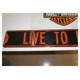 2 Harley Davidson Signs