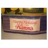 Vintage Hamms Beer Happy Holidays Sign