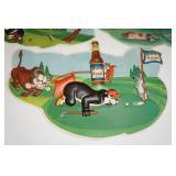 Vintage Hamms Beer Golf Themed Sign Set
