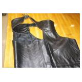 Insterstate Black Leather Chaps - Large
