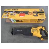 Dewalt 20-Volt MAX Lithium Ion Cordless Brushless Reciprocating Saw with FLEXVOLT ADVANTAGE (Tool Only), DCS386 - Used. .