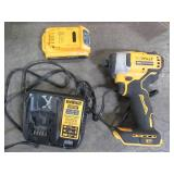Dewalt ATOMIC 20-Volt MAX Cordless Brushless Compact 1/4 in. Impact Driver, (1) 20-Volt Battery & Charger, DCF809C1 - Used.