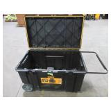 Dewalt 38 in. Mobile Tough Chest Tool Box, DWST38000. Filled With Saw Blades, Driver Heads, Battery and Charger and More! - Missing Lid Latches.