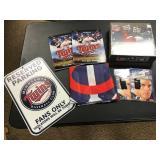 A lot of MN Twins/ NFL memorabilia ( sign, flag, book )
