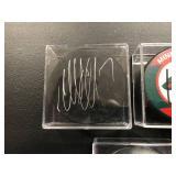 lot of 3 Autographed Hockey Pucks MN Wild ( Matt Dumba, Charlie Coyle, Matt Collen )