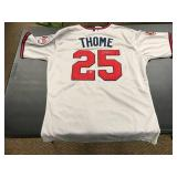 Jim Thome Autographed Jersey ( COA Included )