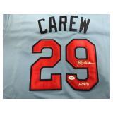 Rod Carew Autographed Jersey ( COA Authentication )