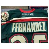 manny hernandez Autographed MN Wild Jersey