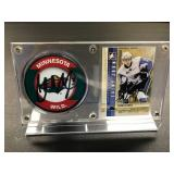Charlie Coyle Autograph Card and Puck