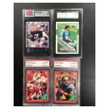 Lot of 4 Graded Cards ( including Barry Sanders rookie see photos for details )
