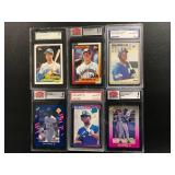 Lot of 6 Graded Ken Griffey JR. Cards ( Rookie included See photos )