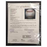 Kirby Puckett Autographed 1990 All star Game ball ( JSA Authentication ) Plus a 1985 Rookie Card