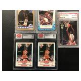 Lot of 4 Michael Jordan and Shaq Graded Cards ( see photos for details )