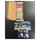 Box of Football Cards and Packs ( see photos for details )