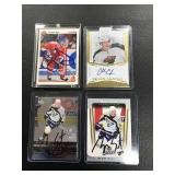 Lot of 4 Autograph Cards ( Ryan Suter, Charlie Coyle, Ryan Suter, and Jaromir Jagr )