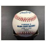 Kent Herbek autographed baseball