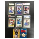 Lot of 6 Graded Ken Griffey JR. Rookie Cards ( see photos )