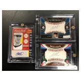 Lot of 3 Joe Mauer Autographed Baseball Cards ( upper deck and Panini )