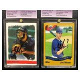 lot of 2 Joe Mauer Autographed Rookie Cards ( JSA Authentication )