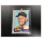 Jim Katt Autographed 1965 Topps Baseball Card