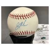 Joe Mauer Autographed Just memorabilia Baseball