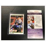 Kent Herbek Autographed Card ( JSA Authentication )