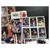 Large Lot of Sports Cards, Magazines, Uncut Sheets, flyers, and more ( see photos for details )
