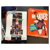 Lot of Vintage, Misc Cards, Kevin Garnette Bobblehead, Michael Jordan Wheaties Posters ( see photos for details )