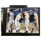 Autographed Duke Snider , Mickey Mantle, Joe Dimaggio, Willie Mays Autographed Framed photo