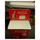 """Vintage Coca-Cola Coke Plastic Retro Nostalgia Portable Cooler - Paul Flum - MINT! - GREAT PIECE! - APPROX 36""""H 22""""W 14""""D - SEE PICTURES!"""