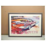 """1995 CORVETTE OFFICIAL PACE CAR, 79TH INDIANAPOLIS 500 PRINT - VERY NICE, PROFESSIONALLY FRAMED! - APPROX 38"""" BY 27"""" - SEE PICTURES!"""